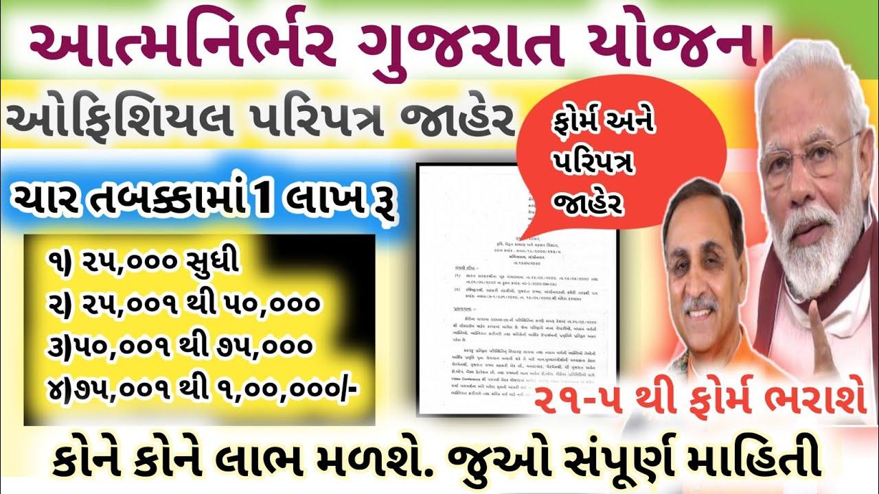 Download Atmanirbhar Gujarat Sahay Yojana form